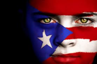 Puerto Rican Flag Face