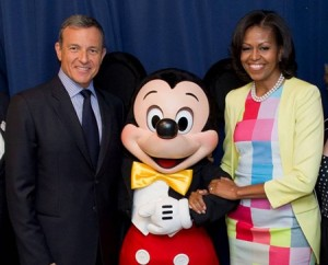 Robert Iger and Michelle Obama -- Disney