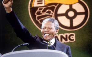 Nelson Mandela Cheering