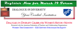 Dialogue on Diversity Women's History Month Forum