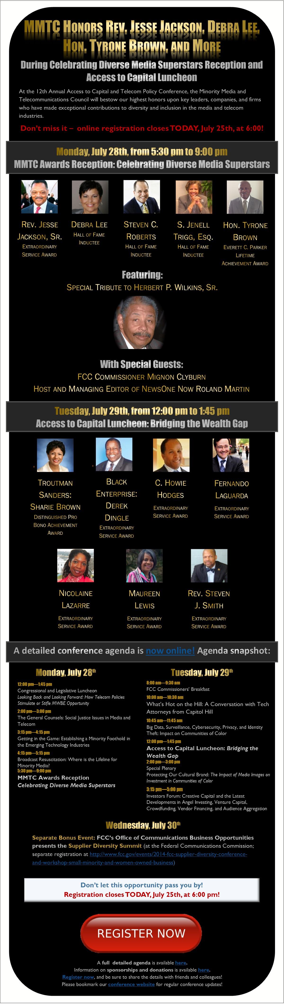 MMTC 2014 Conference Eblast - All Awards w Detailed Agenda