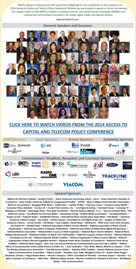 2014 MMTC Access to Capital Conference Thank You Eblastv2