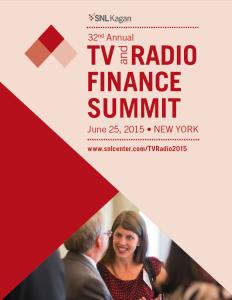 SNL Kagan TV and Radio Finance Summit 2015